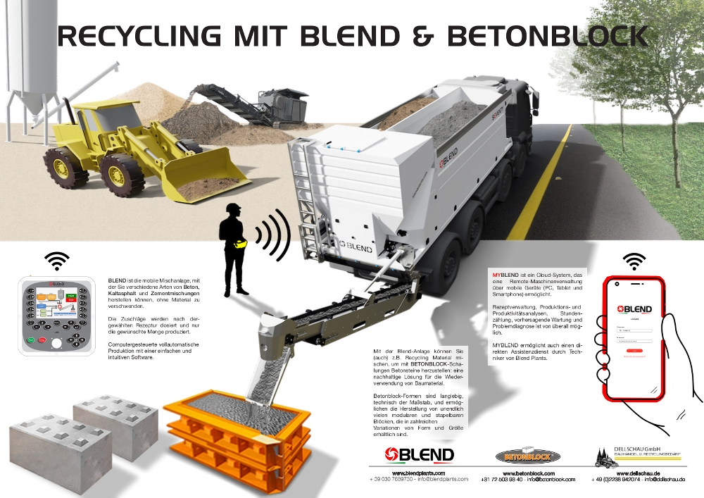 BLEND & BETONBLOC.Com ... diese Kombination ist nachhaltiges Betonrecycling.